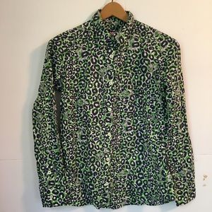 Lilly Pulitzer leopard print blouse